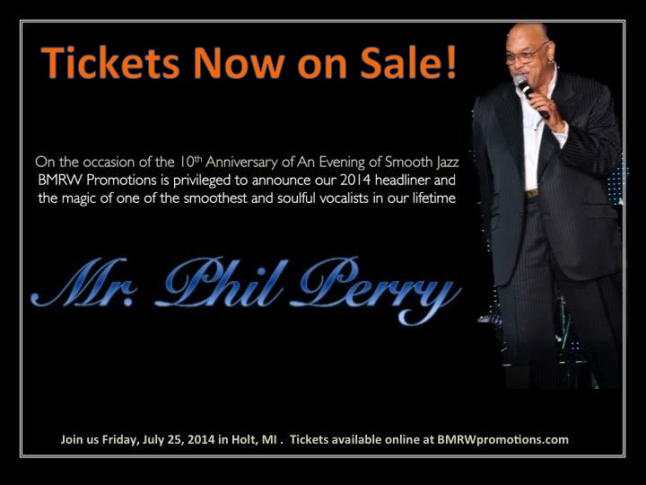 Tickets On Sale_Phil Perry_AEOSJ July 25 2014