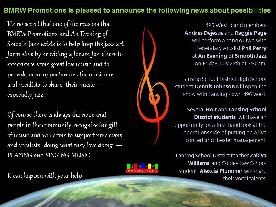 BMRW Promotions is pleased to announce the following