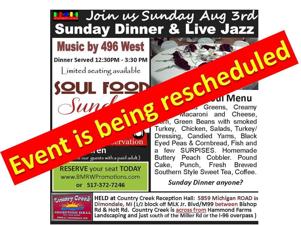 Rescheduling Aug3rd